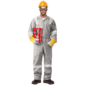 100% COTTON COVERALL WITH REFLECTIVE - DARK GREY