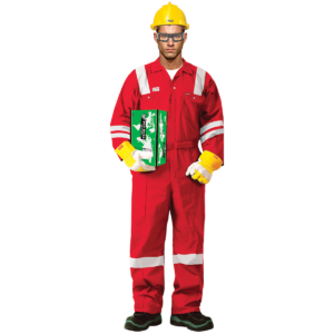 100% COTTON COVERALL WITH REFLECTIVE - RED