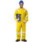 100% COTTON COVERALL WITH REFLECTIVE - YELLOW