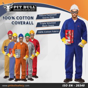 100% COTTON COVERALL WITHOUT REFLECTIVE - PETROL BLUE