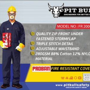 PROBAN FIRE RESISTANT COVERALL - NAVY BLUE