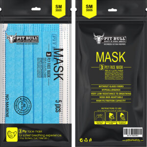 SM-3005 3ply Mask with Ear Loop D/B – Pouch of 5 Pcs